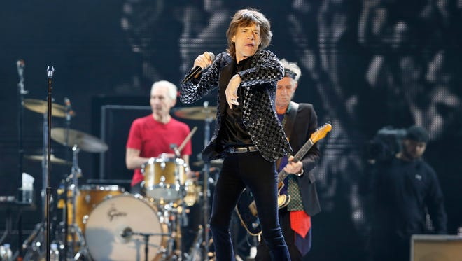 Mick Jagger and the Rolling Stones performing during their concert at Tokyo Dome in Tokyo on Feb. 26, 2014. The band has announced that they will kick off their new 15-city North American stadium tour.