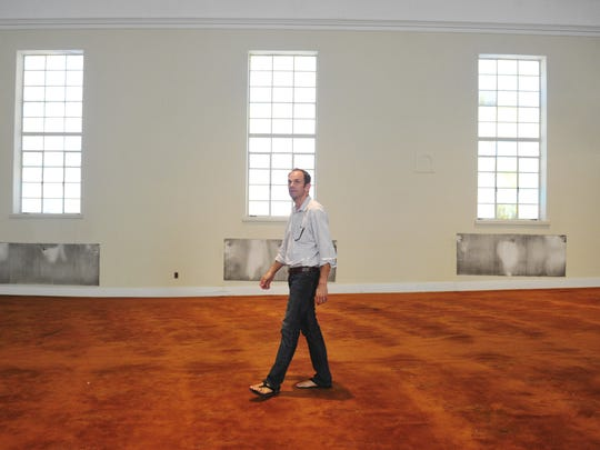 Dan Cook gives a tour of the former Riverside Drive Church of Christ in East Nashville.