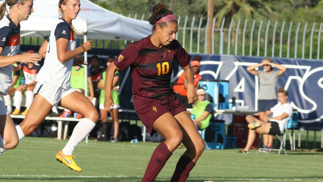ASU sophomore forward Jaz Mader scored twice Friday in a 5-0 win over No. 14 Pepperdine in Tucson.