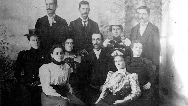 The Gonzalez children, including Manny who built many of the finest homes in Fort Myers.