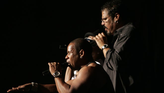 """Guy """"Master Gee"""" O'Brien and Michael """"Wonder Mike"""" Wright of The Sugarhill Gang, pictured in 2009."""