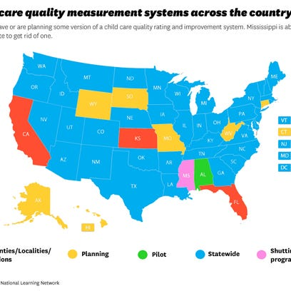 Map shows status of states with some quality rating
