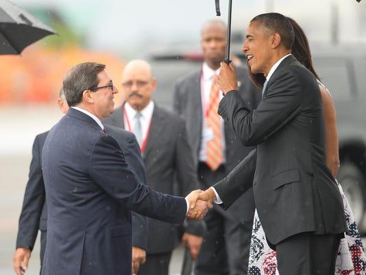 Barack Obama, Michelle Obama, Bruno Rodriguez