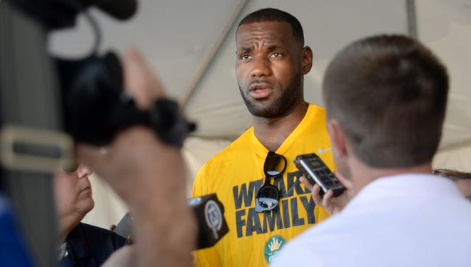 """LeBron Jamaes has partnered with the University of Akron to provide a guaranteed four-year scholarship to the school for students in James' """"I Promise"""" program who qualify."""