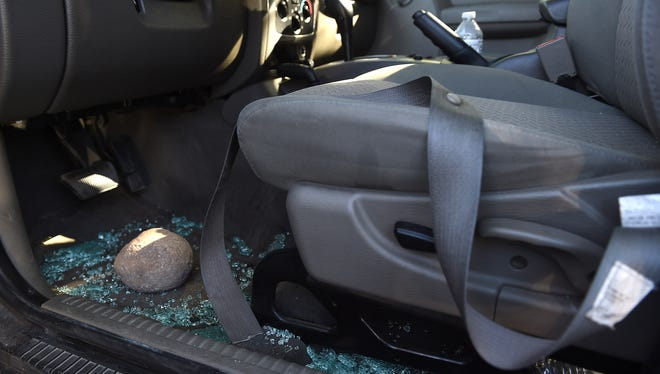 The Reno Gazette-Journal's vehicle as seen after the altercation with Tesla security guards. Photo was taken after the vehicle returned to the RGJ parking lot.