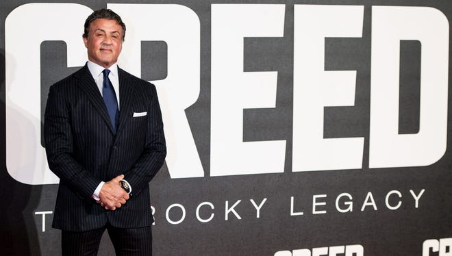 """Sylvester Stallone attends the European Premiere of """"Creed"""" at the Empire cinema, Leicester Square on January 12, 2016 in London, England."""