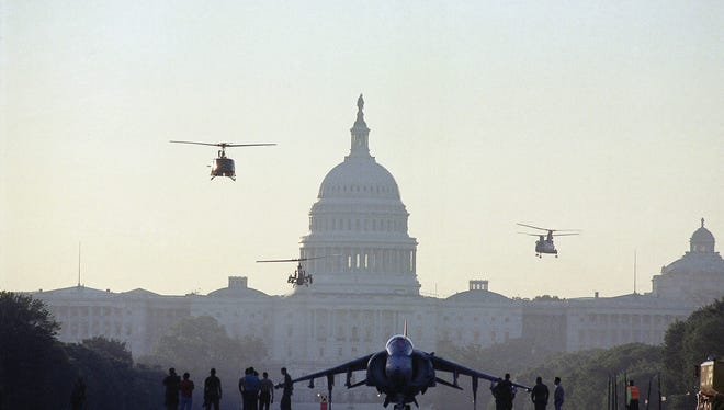 Military hardware on Capitol Hill in 1991.