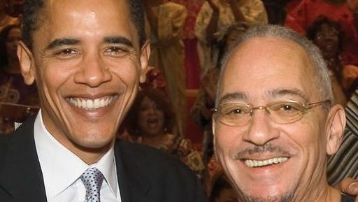 **  FILE ** In this undated photo from Trinity United Church of Christ, then Democratic presidential candidate Sen. Barack Obama poses with the church's pastor, the Rev. Jeremiah Wright in Chicago, March 10, 2005.