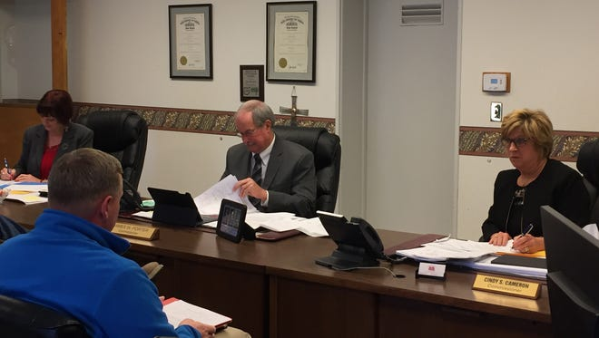 Muskingum County Commissioners Mollie Crooks, Jim Porter and Cindy Cameron met with the county engineers office Thursday to discuss upcoming projects.