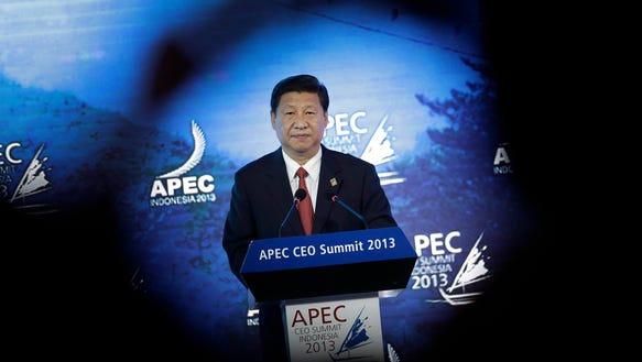 AP APTOPIX Indonesia APEC Taiwan China Pressure_003