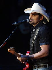Brad Paisley will perform Friday at the Belk College Kickoff concert along with Kane Brown at Bank of America Stadium in Charlotte.