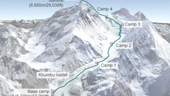 Route hit by avalanche
