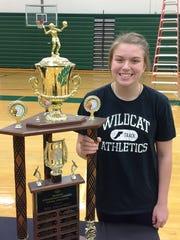 Novi senior setter Erin O'Leary was voted the 2017