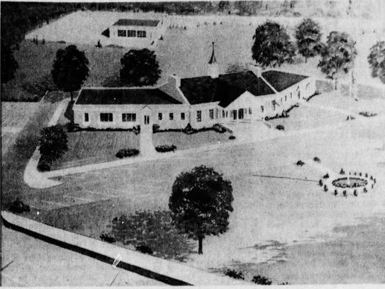A 1964 rendering of the Oceanport Municipal Building.