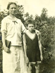 "McClung Historical Collection James Agee and his mother, Laura, in an undated photo. The Pulitzer Prize-winning author of ""A Death in the Family"" was born Nov. 27, 1909, in Fort Sanders."