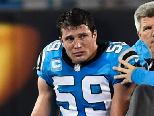 Panthers LB Luke Kuechly carted off field, checked for ...
