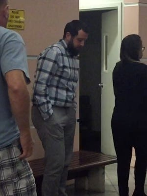 Jeremy Luce was leaves the Superior Court of Guam in Hagåtña on Tuesday, Jan. 2, 2018, after he was sentenced to two weeks imprisonment in connection with 18 grams of marijuana found on him when he arrived in Guam on a flight. Luce moved to Guam with his wife and was a medical marijuana patient in California for 10 years.