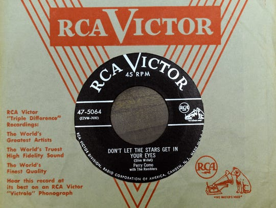 A 45rpm record single of Don't Let the Stars Get in