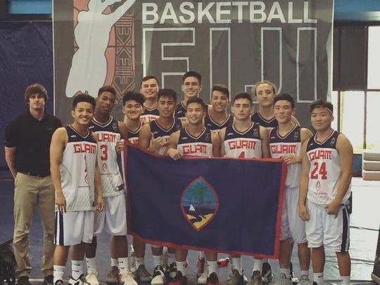 Team Guam at the 2016 FIBA U!* Oceania Championship