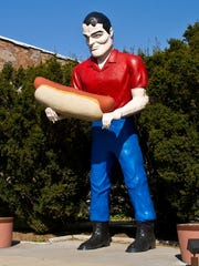 This 19-foot-tall Muffler Man statue, which depicts Paul Bunyan holding a hot dog, is one of the kitschy roadside attractions along the Illinois portion of Route 66. It's located in Atlanta, Ill.