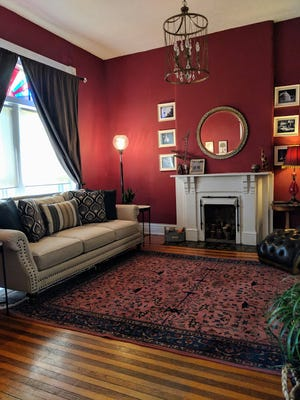 The living room in Dana McMahan's Old Louisville house.