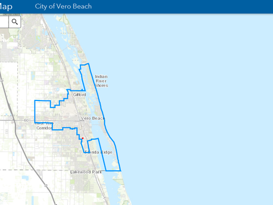 Vero Beach Electric Customers Can Now Find Power Outages Online - Vero beach florida map