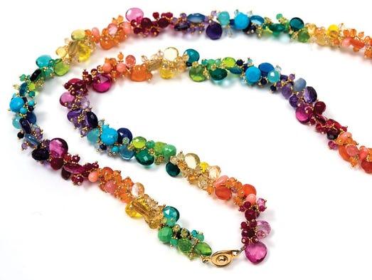 "Tasha by Beatrice ""Rainbow Jellybean"" necklace ""In"