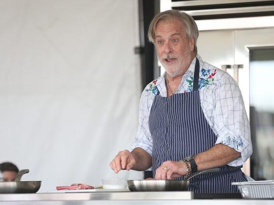 Robert McGrath talks about preparing food during a