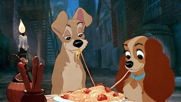 Spaghetti is the most romantic of all the foods.