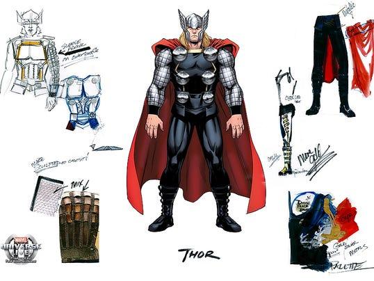 Thor Sketch for Marvel LIVE!