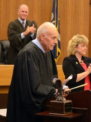 """Judge Lewis """"Buddy"""" Lauve Jr. received the Causidicus Award at the opening of the 9th Judicial District Court in Rapides Parish on Wednesday. The award recognizes a lifetime of achievement."""