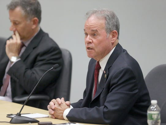 Rockland County Executive Ed Day answers a question