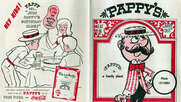 This is a 1975 menu from Pappy's, a pizza shop in the Leader Heights area of York Township. The location later became Mr. Bill's Quarterdeck.