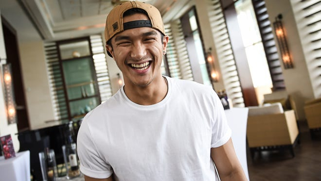 """Marko Germar, Guam's own """"So You Think You Can Dance"""" all-star, makes an appearance at the Sheraton Laguna Guam Resort on Oct. 15, 2015."""