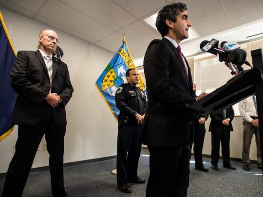 Burlington Mayor Miro Weinberger talks about the city's plans to deal with the homeless encampment off Pine Street where Amos Beede was beaten. Beede later died of injuries sustained in the attack.