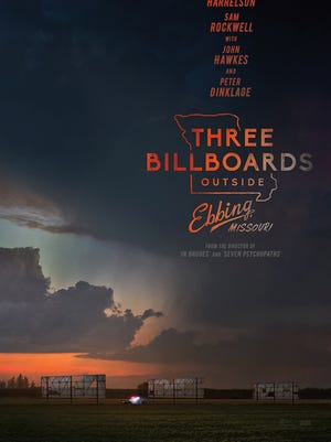 """Theatrical poster for """"Three Billboards Outside Ebbing, Missouri."""""""