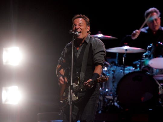 Bruce Springsteen at Giants Stadium on Sept. 30, 2009.