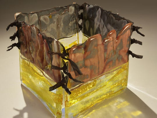 Jeep Johnson's art glass is on exhibit at the Niagara