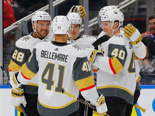 USP NHL: VEGAS GOLDEN KNIGHTS AT EDMONTON OILERS S HKN EDM VGK CAN AL