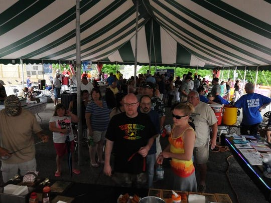 The Shriners' Chili & Wing Cook-off always draws a good crowd.