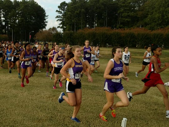 The Region 8 A-AA girls cross-country race was held at Percy Warner Park Steeplechase Course in Nashville.