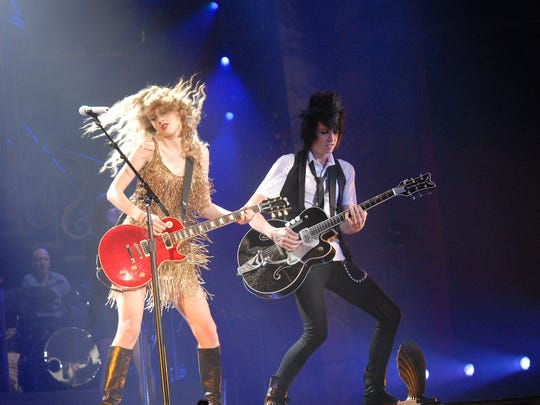 "Taylor Swift playing in Des Moines as part of her ""Speak Now"" World Tour in 2011."