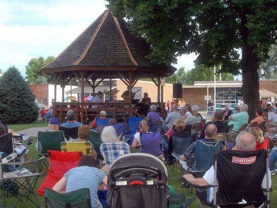 Music fans packed Waukee's downtown triangle for a Jazz in July concert in 2010.