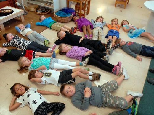 Kids use meditation, mindfulness to de-stress