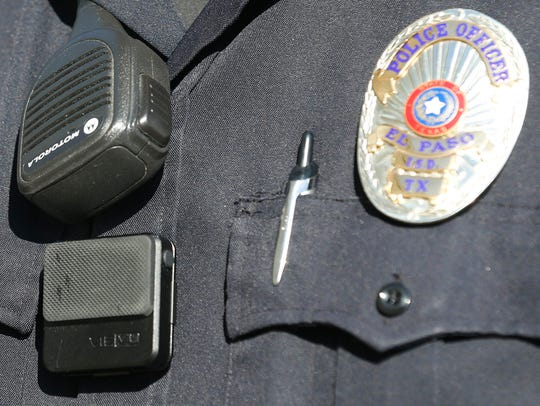 One of 50 body cameras that were purchased and distributed