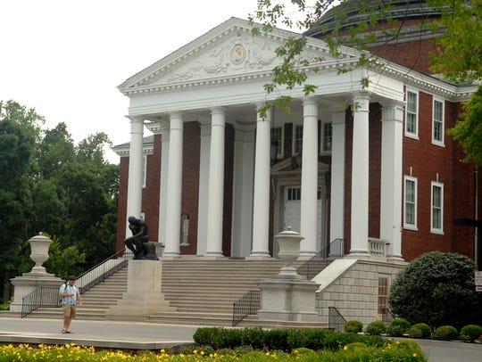 Grawemeyer Hall houses President John Ramsey's office.