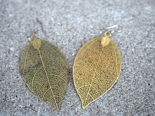 These leaf earrings gifted from a friend are just one of Stylemaker Melissa Goodlett's favorite things.  June 28, 2016