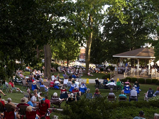 Cover photo; Free concerts in Jeffersonville's Warder Park