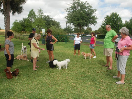 Pelican Preserve has an active dog park in the community.