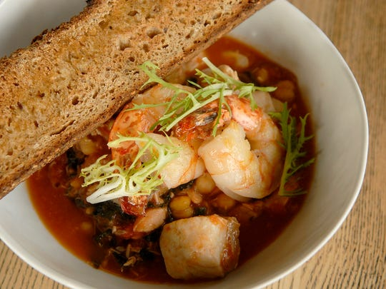 Cioppino, known as Fisherman's Stew, made by chef Dallas McGarity at The Fat Lamb.